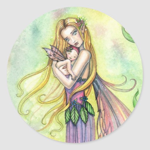Fairy Mother and Baby Stickers