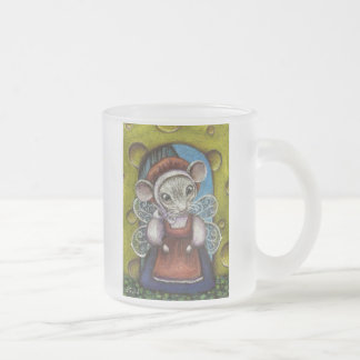 Fairy mouse frosted glass coffee mug