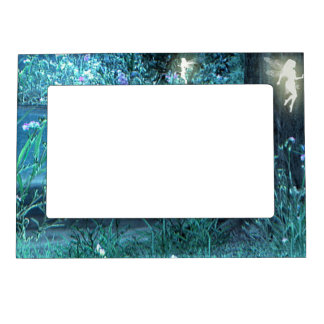 Fairy night magic magnet picture frame