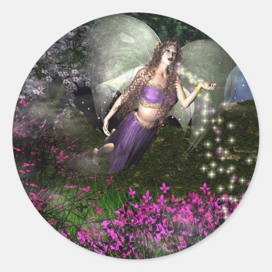 Fairy NightMagick Classic Round Sticker