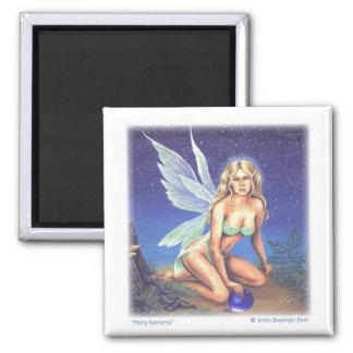 Fairy Nocturne Art 2 Inch Square Magnet