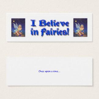Fairy Nocturne Believe Mini Business Card