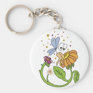 Fairy of big eyes basic round button keychain
