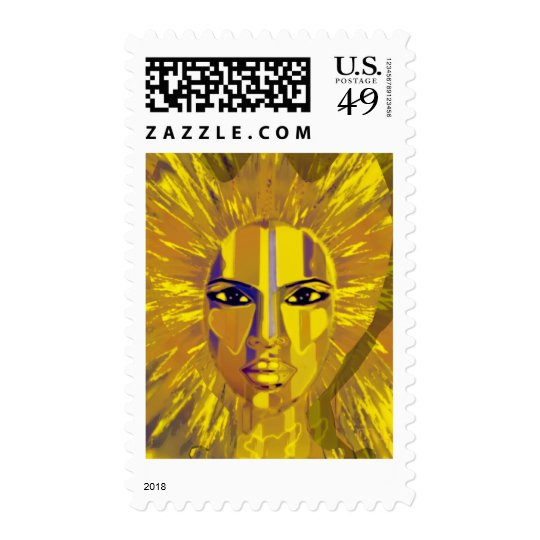 fairy of sea and moon postage