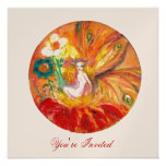 FAIRY OF THE FLOWERS champagne metallic red yellow Personalized Announcements