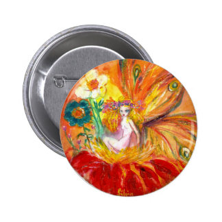 FAIRY OF THE FLOWERS PINBACK BUTTON