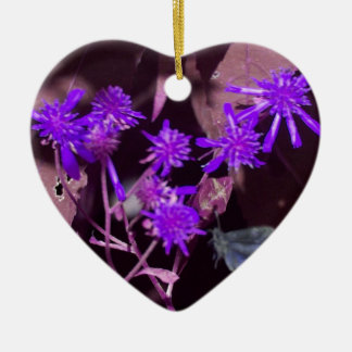 Fairy of the Forest Double-Sided Heart Ceramic Christmas Ornament