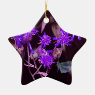 Fairy of the Forest Double-Sided Star Ceramic Christmas Ornament