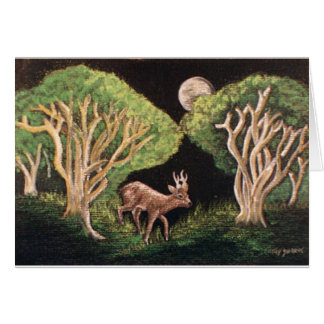 """""""Fairy of the Forest"""" Roe Deer Card"""