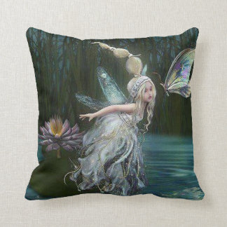 Fairy of the forrest throw pillow