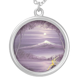 Fairy of the Mountain Round Pendant Necklace