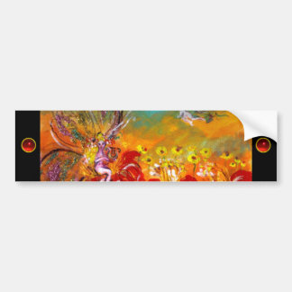 FAIRY OF THE RED FLOWERS, ruby Bumper Sticker