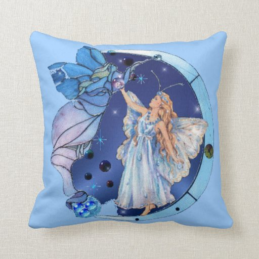 Fairy of the Skies Throw Pillows