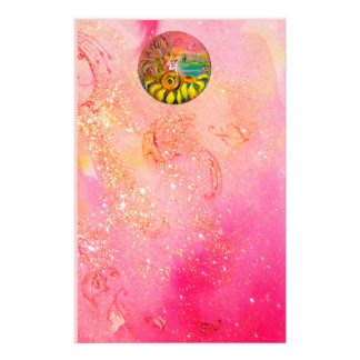 FAIRY OF THE SUNFLOWERS yellow pink black Stationery