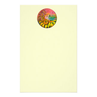FAIRY OF THE SUNFLOWERS yellow pink white Stationery