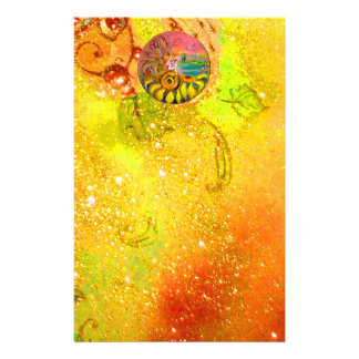 FAIRY OF THE SUNFLOWERS yellow red brown Stationery
