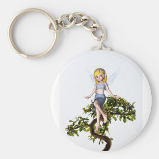 Fairy on a Bonsai Tree Keychain