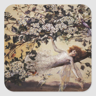 Fairy on a Branch Square Sticker