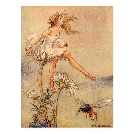 Fairy on a Daisy Postcard