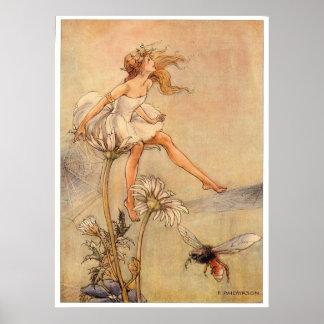 Fairy on a Daisy - Print