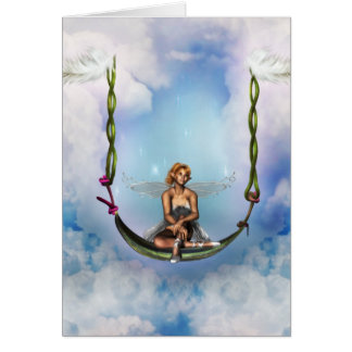 Fairy on a Swing Greeting Card
