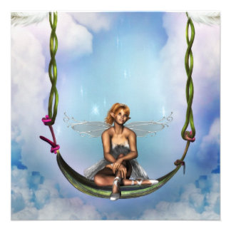 Fairy on a Swing  Invitations