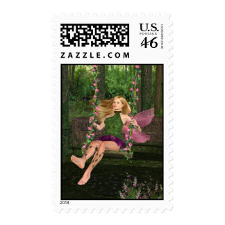 Fairy On A Swing Postage