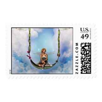 Fairy on a Swing  Postage Stamp