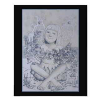Fairy. On Black. Flyer Design