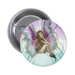 fairy on crystal ball pinback button