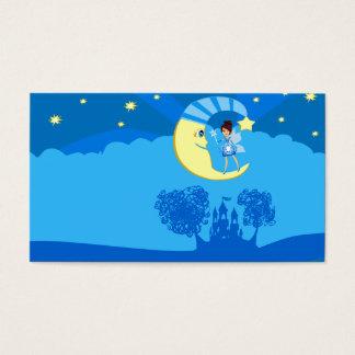 fairy on moon business card