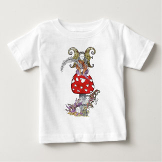 Fairy on Mushroom Baby T-Shirt