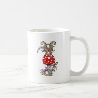Fairy on Mushroom Coffee Mugs