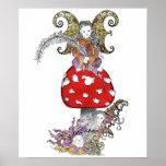 Fairy on Mushroom Print