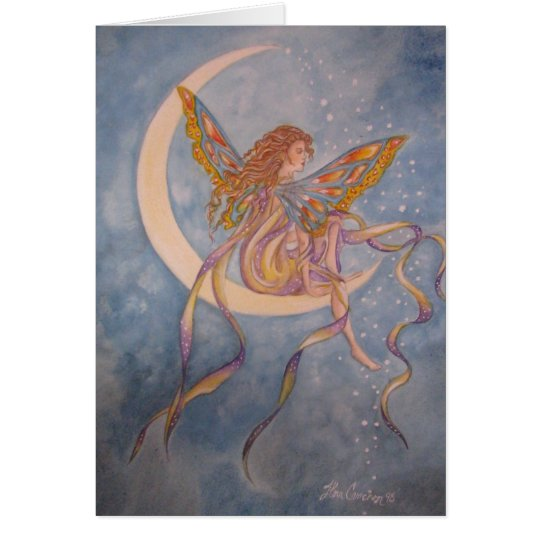 Fairy on the Moon Card