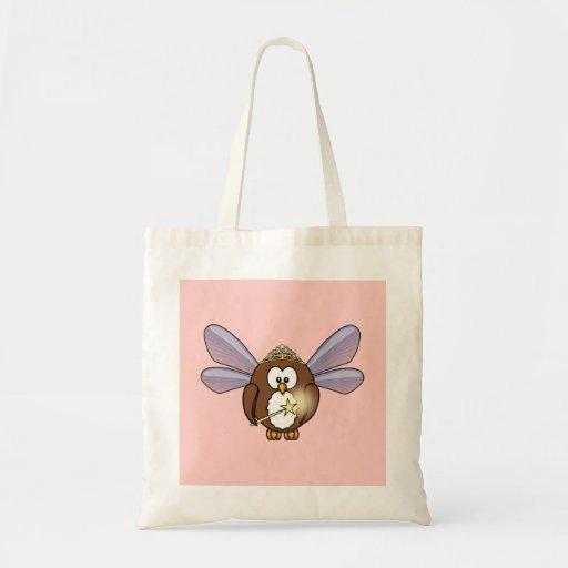 fairy owl canvas bag