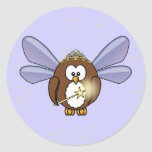 fairy owl classic round sticker
