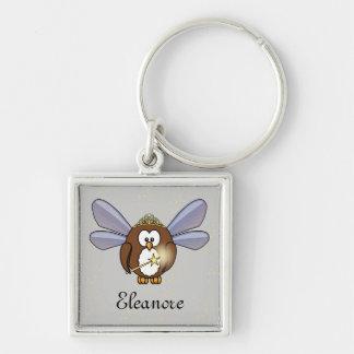 fairy owl keychain