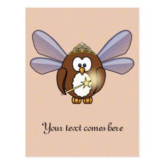 fairy owl postcard