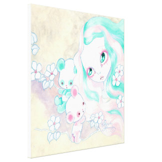 Fairy Panda Bears Canvas Print