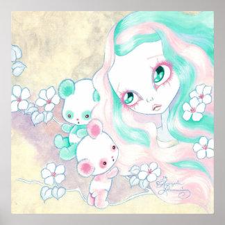 Fairy Panda Bears Poster