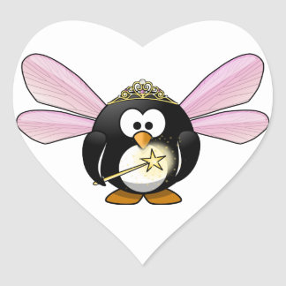 Fairy Penguin Heart Sticker