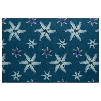 Fairy penguin snowflakes fabric