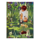 Fairy Picnic at the Lily Pond Poster