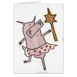 Fairy Pig Card