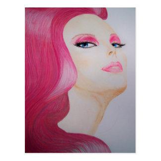 fairy pink postcard