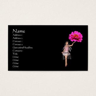 Fairy Pink Zinnia Flower Fantasy Business Card