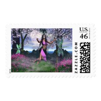 Fairy PinkGlitter Postage
