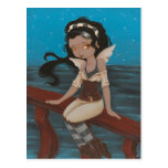 fairy pirate ship sea  Post Card