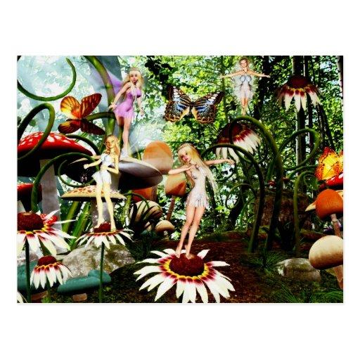 fairy play 2 postcard